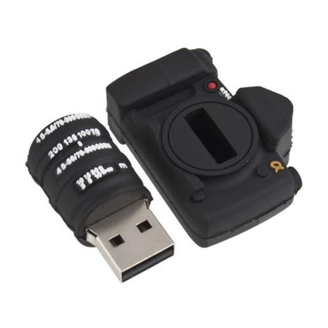 Camera Shaped 8GB USB 2.0 Memory Stick Pen Thumb Flash Drive for Nikon DSLR #T