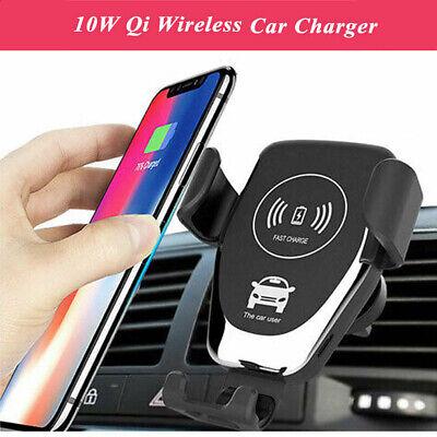 10W Auto KFZ Handy Halterung Induktions Ladegerät Clamping Car Wireless Charger