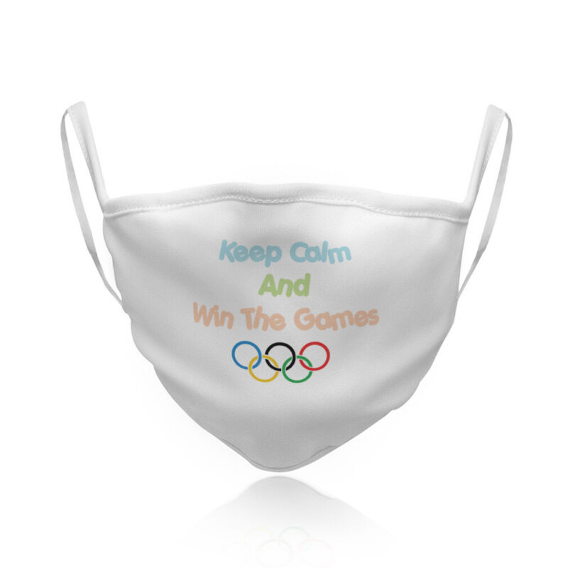Washable Reusable Face Mask United States Keep Calm and Win The Games Olympic