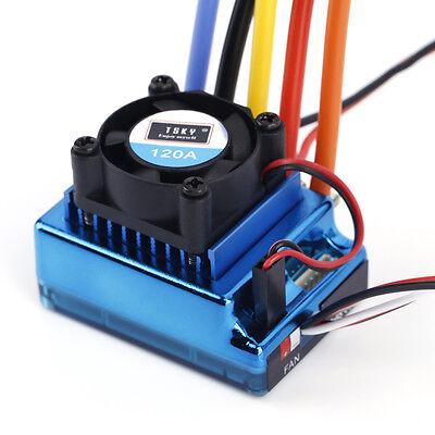 120A Sensored Brushless Speed Controller ESC for 1/8 1/10 1/12 Car Crawler US
