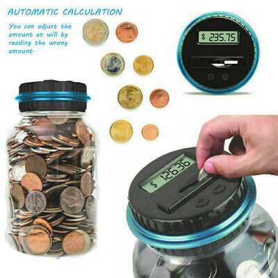 Counting Piggy Bank (Digital Piggy Bank Coin Collect Counter LCD Counting Money Change Dollar)