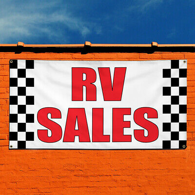 Vinyl Banner Sign Rv Sales Business Rv Sales Outdoor Marketing Advertising Red