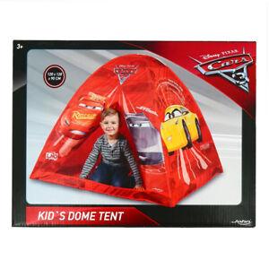 Disney Cars 3 Kids Toddler Baby Pop Up Indoor Outdoor Children Play House Tent