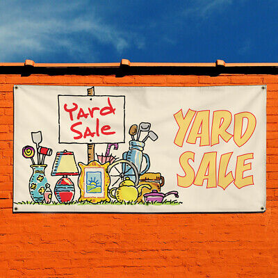 Vinyl Banner Sign Yard Sale 1 Style A Business Marketing Advertising White