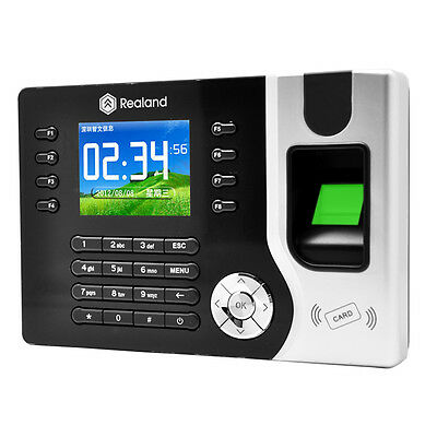 Attendance Time Realand Biometric Fingerprint Clock Id Card Reader Tcpip Usb