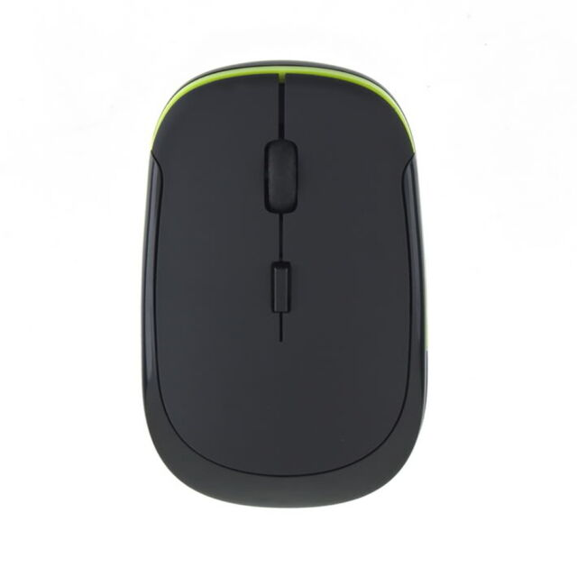 Slim Mini Wireless Optical Mouse Mice USB Receiver 2.4GHz for Laptop PC WK!