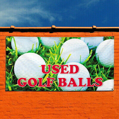 Vinyl Banner Sign Used Golf Balls Business Outdoor Marketing Advertising Green