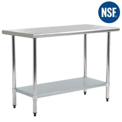 """24"""" x36"""" Stainless Steel Kitchen Work Table Commercial Kitchen Restaurant Table"""