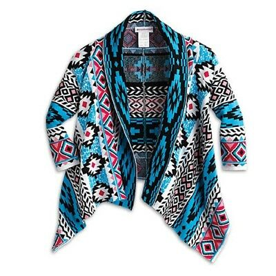 * American Girl FOR GIRLS Size M/L 10 12 14 Knit Blanket Cardigan Sweater Kaya