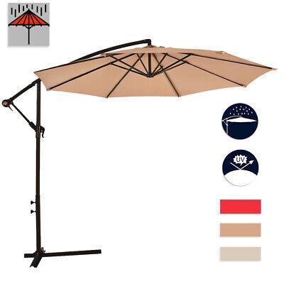 New 10' Patio Umbrella Offset Hanging Umbrella Outdoor Market Umbrella D10 - Outdoor Market Patio Umbrella