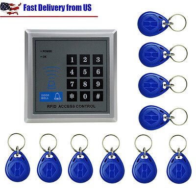 Rfid Proximity Door Lock Access Control System With 10 Keys For Home Security Lk
