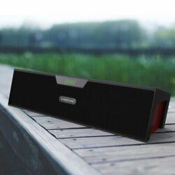 Alarm Clock Bluetooth FM Playback NFC Speaker Desktop Audio Wireless with Mic BT