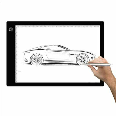 Digital Graphic Drawing Tablet Tattoo Art LED Light Box Pad Board Table A4 Size