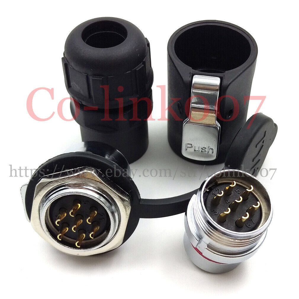 GX16 Aviation Cable Connector 2-10pin Male Plug /& Female Socket Connectors Y CL