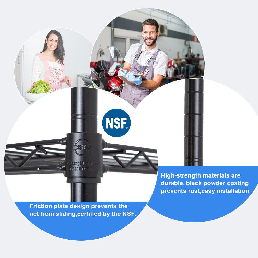 "New 4Tier Wire Shelving Unit NSF Metal Shelf Rack 1000 LBS Capacity 14"" x36""x54″ Business & Industrial"