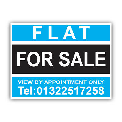 Flat For Sale Sign Boards Personalised Correx Estate Agent Signs x2 43