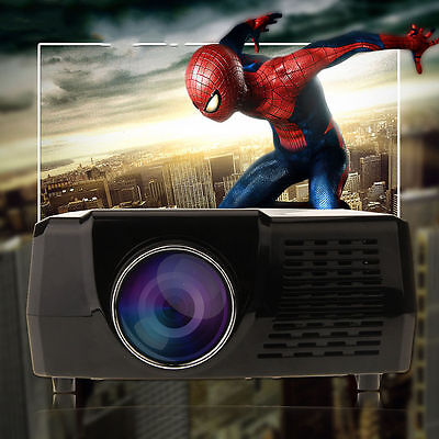 5000 Lumens HD 1080P LED Projector Home Movie Theater 3D VIEW VGA USB HDMI TV