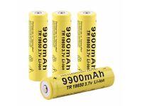 4pcs 3.7V 18650 9900mah Li-ion Rechargeable Battery For LED Flashlight Torch
