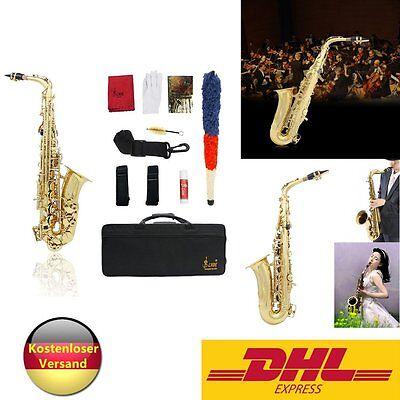 Neu: tolles Alt Saxophon Eb mit Koffer + Zubehör, 6430 SUNSHINE