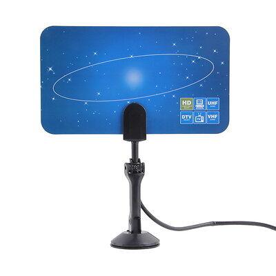Digital Indoor HD TV HDTV DTV VHF UHF PC NB Flat High Gain Antenna 1080P AWP