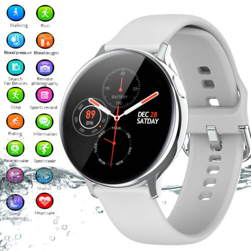 Damen Smartwatch Bluetooth Fitness Armband Wasserdicht IP68 Sport Uhr Tracker
