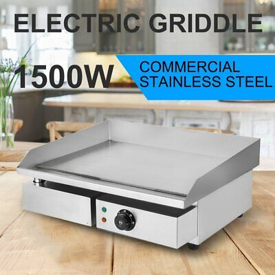 Electric Countertop Griddle Commercial Teppanyaki Grill Stainless Steel Bbq Us