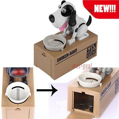 Piggy Bank Hungry Eating Dog Coin Money Saving Choken Puppy Robotic Mechine Se