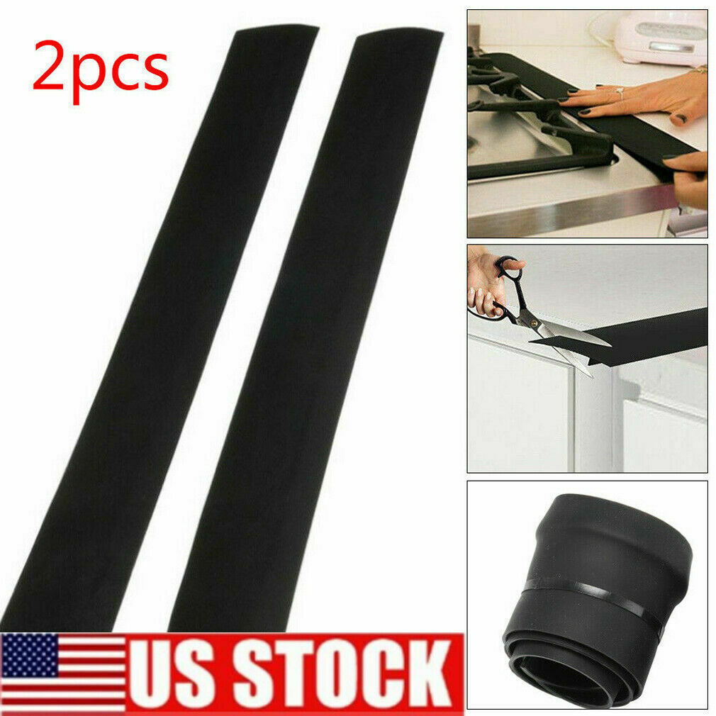 2Pack Silicone Kitchen Stove Counter Gap Cover Oven Guard