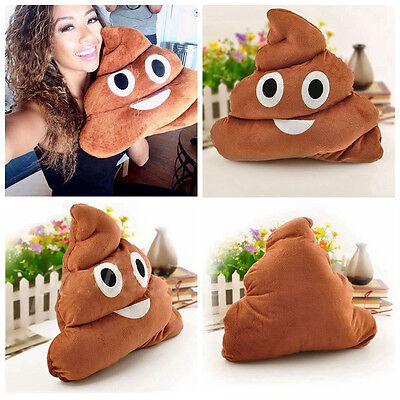 15 Inch Poop Poo Emoji Emoticon Pillow Brown Stuffed High Quality Plush Soft Toy