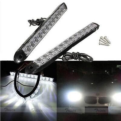 2x12 LED White Flexible Car DRL Daytime Running Light Driving Fog Light Lamp 12V