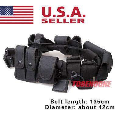 Police Guard Security Modular Enforcement Equipment Duty Belt Tactical 600 Nylon