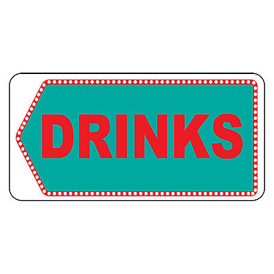 Drinks Retro Vintage Style Metal Sign - 8 In X 12 In With Holes