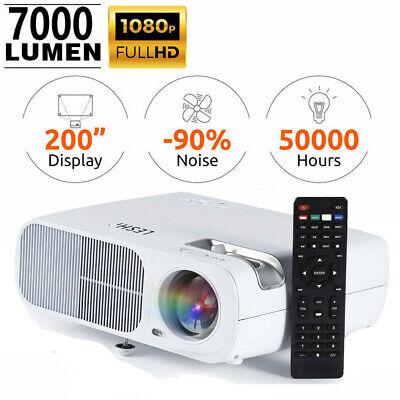 Portable 3D 7000 Lumens Full HD 1080P Projector HDMI USB VGA Home Theater NEW
