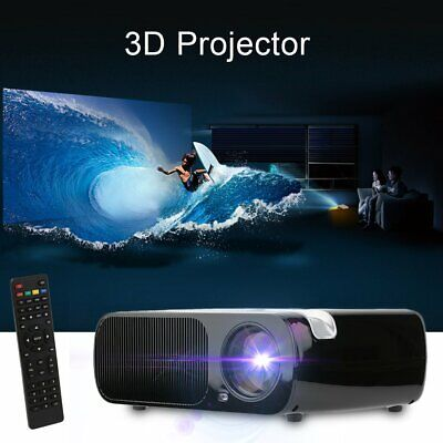 4K HD 1080P LCD LED Android Smart 3D Home Theater Projector 7000LM HDMI BL-20 US