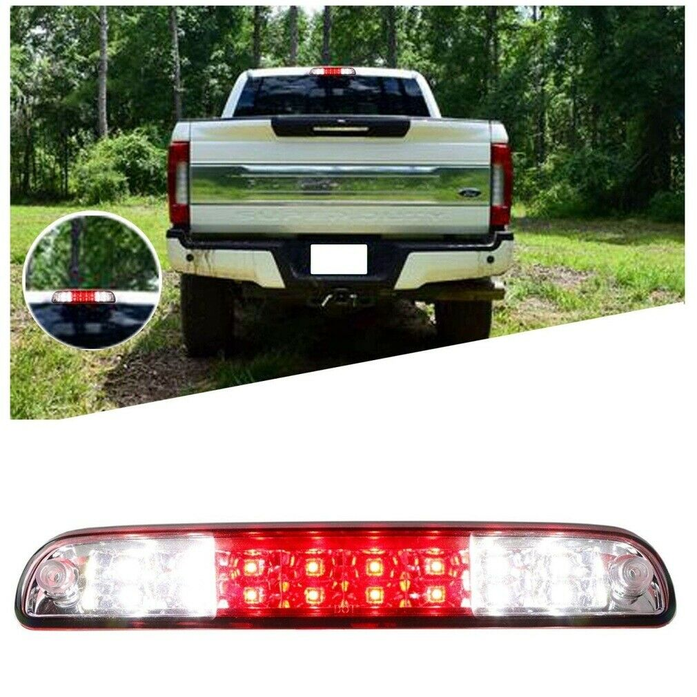 Owner Cargo Lamps for 1999-2016 Ford F-250 F-350 LED Smoke Rear 3rd Third Brake Light