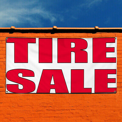 Vinyl Banner Sign Tire Sale 2 Automotive Tire Marketing Advertising White