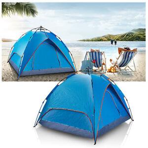 Sekundenzelt Outdoor Camping Doppelschicht Zelt Automatik Wurfzelt 3-4 Personen