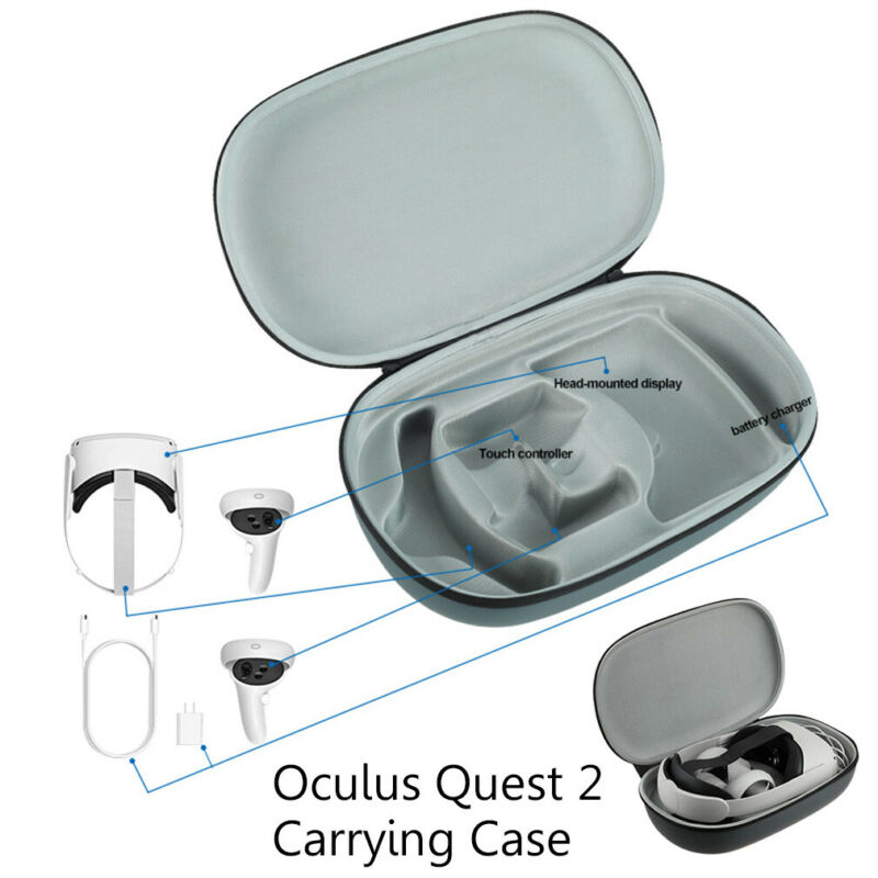 Carrying Storage Bag Case For Oculus Quest 2 VR Headset & Controller Accessories