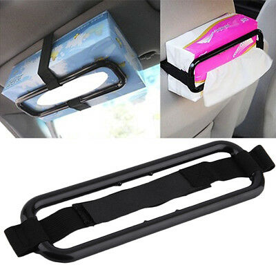 Auto Car Sun Visor Tissue Box Holder Paper Napkin Seat Back Accessories ZD