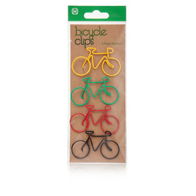 Npw-usa Bicycle Shape Paper Clips Set Of 4