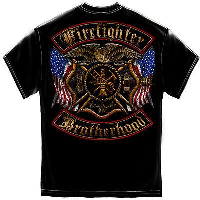 (New FIREFIGHTER FIREMAN  BROTHERHOOD T SHIRT  Licensed SHIRT )