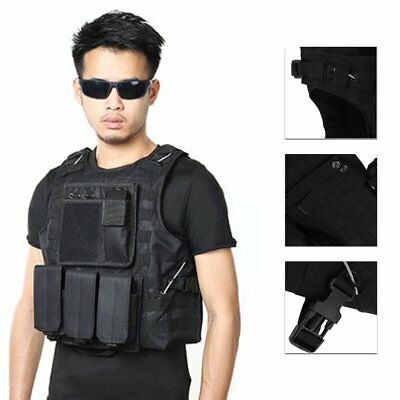 Swat Assault - Tactical Military SWAT Police Airsoft Molle Combat Assault Plate Carrier Vest BH