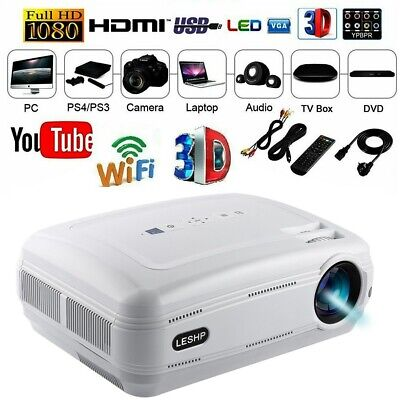 12000 Lumen Heimkino Projektor Beamer HDMI home theater Full HD 1080P Media DHL