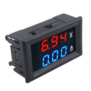 DC 100V10A Voltmeter Ammeter Blue & Red LED Amp Dual Digital Volt Meter Gauge TR