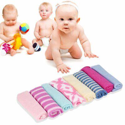 8Pcs Baby Infant Newborn Bath Towel Washcloth Bathing Feeding Wipe Cloth Soft LF
