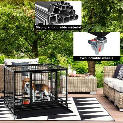 Large Dog Crate Dog Cage Dog Kennel Heavy Duty Pet Playpen for Training Outdoor Cages & Crates