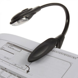 Mini Flexible Clip-On Bright Book Light Laptop LED Book Reading Light Lamp CY