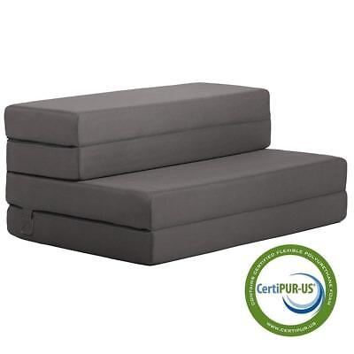 Twin Folding Mattress Sofa Bed Chair Dorm Camping Futon Sleeper Couch Seat Foam for sale  USA