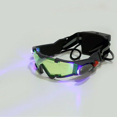 New Jyw 1312 Night Vision Glasses Goggles Adjustable With Led Flip Out Lights Us