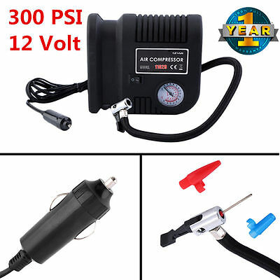 300 Psi Portable Air Compressor Outdoor Pumps Inflates Tires 12v Dc Auto Car E1